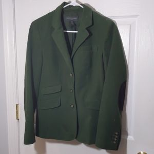Winter Green Blazer with Elbow Patches